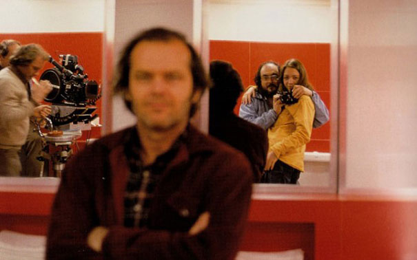 Stanley Kubrick with his daughter on The Shining