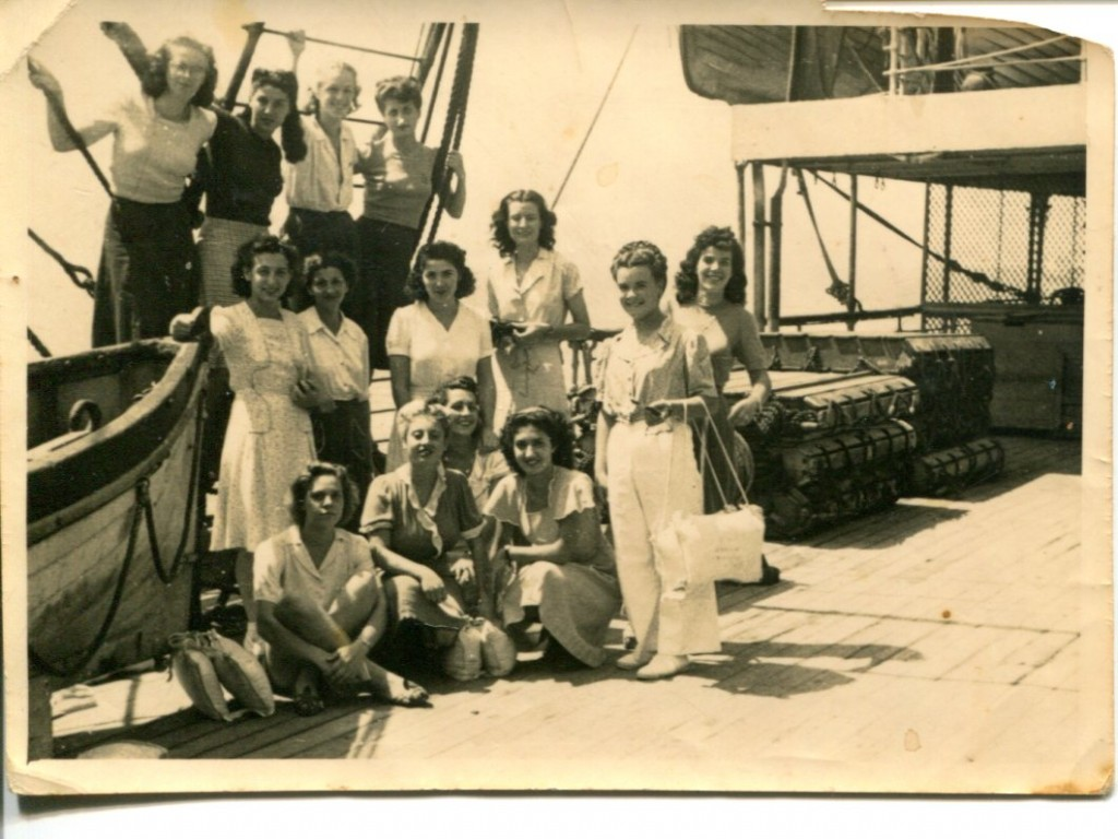 War Brides Group Photo on Ship